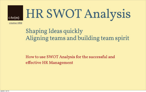 HR SWOT Analysis HR Management Pinterest Swot analysis - what is swot analysis
