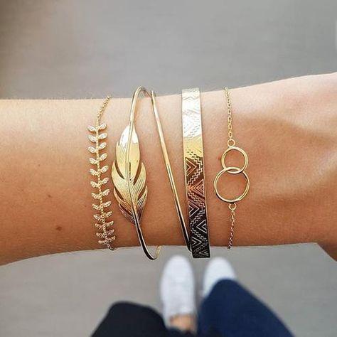 Unisex Elegant Armband Verstellbare Armreif Mode Schmuck Geschenk-Rosagold
