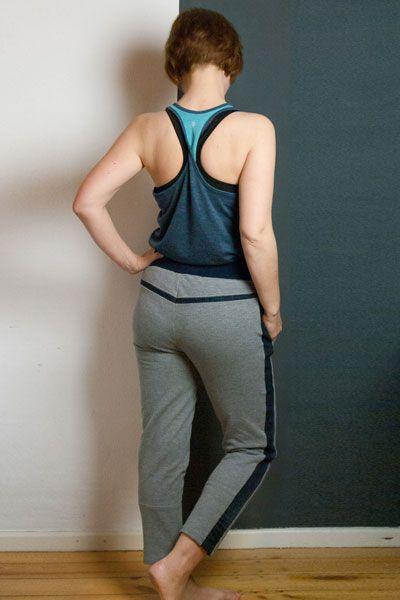 Upcycling Stories #2 Jogginghose mit Jeans Details