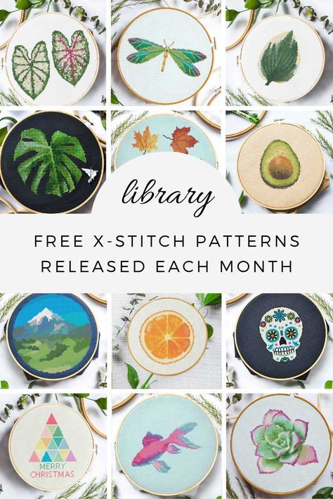 New cross stitch patterns released every month #crossstitch #embroidery #fiberart #handcrafted #xstitch #embroideryhoop