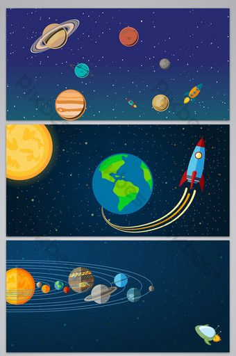 Cartoon Space Universe Planet Exploration Advertising Design Background Backgrounds Psd Free Download Pikbest Ad Design Sign Design Background Design