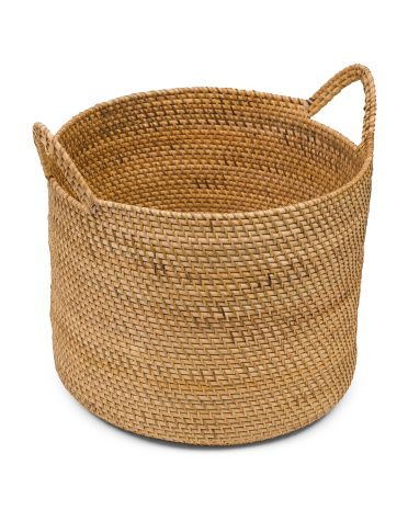 Made In Indonesia Xl Rattan Storage Basket Storage