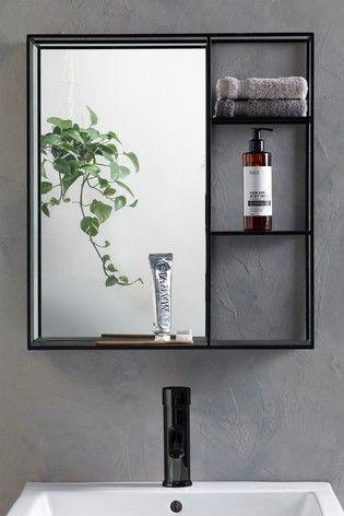 Buy Shelving Wall Mirror From The Next Uk Online Shop In 2020 Bathroom Mirror Storage Bathroom Mirror With Shelf Mirror Wall