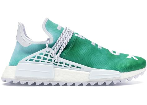 4b7edfab84ca1 Check out the adidas Pharrell NMD HU China Pack Youth (Green) available on  StockX