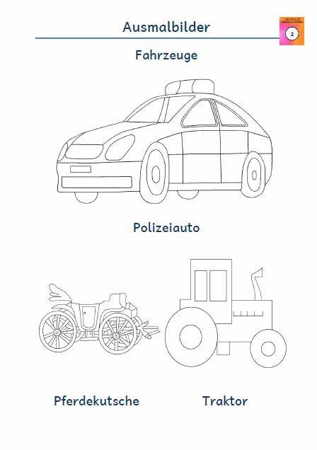 Kostenloses Arbeitsblatt Ausmalbild Polizeiauto Pferdekutsche Traktor Ausmalbild Ausmalen Kostenlose Ausmalbilder