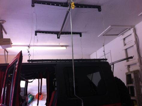Removing Hard Top Racor Pro Heavy Lift Storage System With