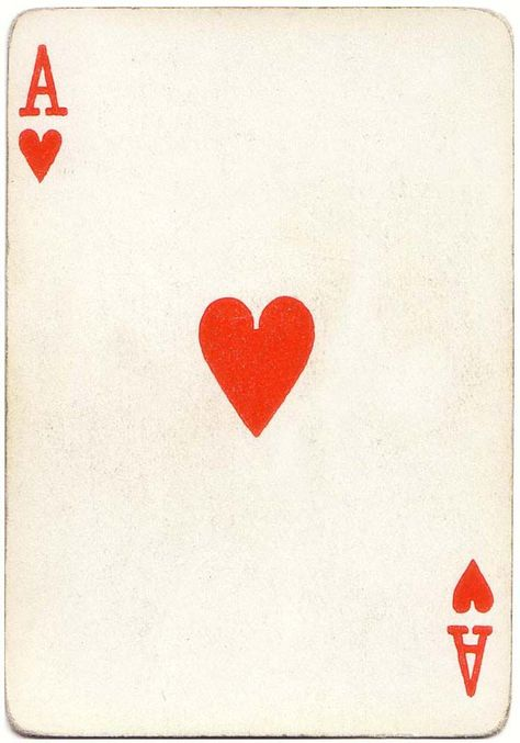 Ace of hearts playing card poker