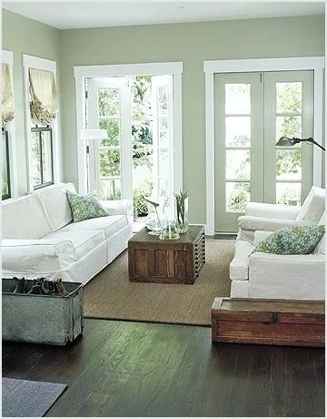 Image Result For Light Sage Green Wall Color Country Living Room