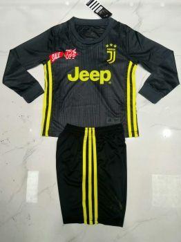 the latest 79e92 8da00 2018-19 Cheap Youth Kit Juventus 3rd LS Replica Soccer Kids ...