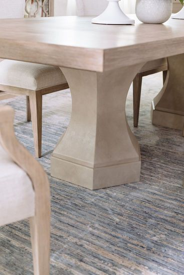 Traditional 92 Double Pedestal Dining Table In Sandstone Pedestal Dining Table Dining Table Double Pedestal Dining Table