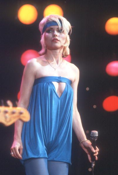 Debbie Harry of the New wave group Blondie performs 'Heart of Glass' on the TV show Midnight Special that aired on January 19 1979 in Los Angeles.