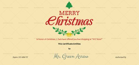 Download Merry Christmas Gift Certificate Template (Red, #333T) MS WORD in Microsoft Word (DOC). Merry Christmas Gift Certificate Template (Red, #333T) MS WORD is designed by expert designers and is completely customizable. Download, Edit  Print.