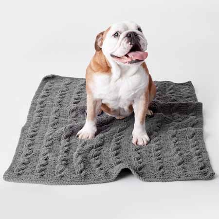 Knitting Dog Blankets For Charity Plus 9 Patterns Happiness Is Handmade Cable Knit Blankets Dog Blanket Knitted Blankets