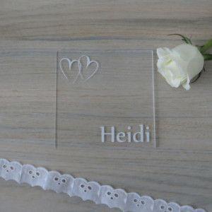 Acryl Untersetzer Tischkarte Herzschlag Modern Und