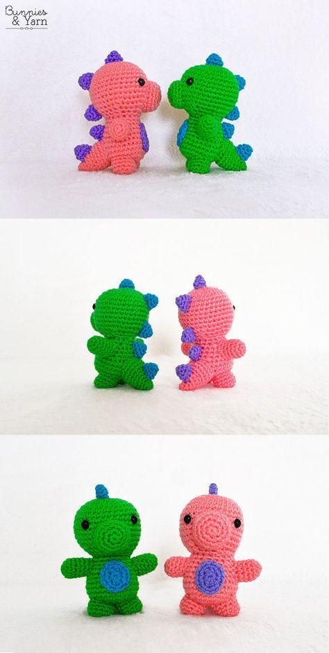 Triceratops Tripi - Amigurumi Crochet Pattern / PDF e-Book ... | 941x474