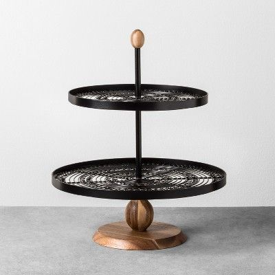 Tiered Serving Stand Black Hearth Hand With Magnolia Tiered Serving Stand Serving Stand Hearth Hand With Magnolia