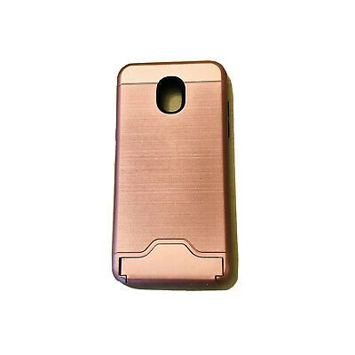 Rose Gold Phone Case With Pocket Stand Fits Samsung Galaxy J3 Orbit Easel In 2021 Rose Gold Phone Case Gold Phone Case Samsung Galaxy J3