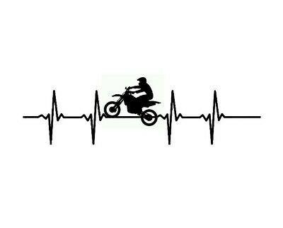 The Heart of a Biker decal