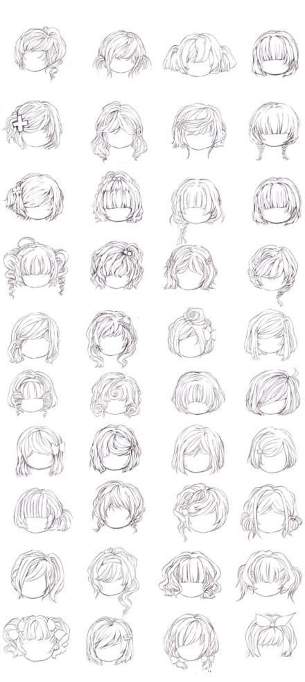 Drawing Hairstyles For Your Characters Drawing On Demand Manga Hair Drawing Hair Tutorial Anime Hair