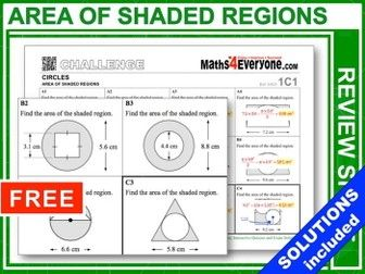 Gcse Revision Area Of Shaded Regions Gcse Maths Revision Gcse Revision Math Classroom