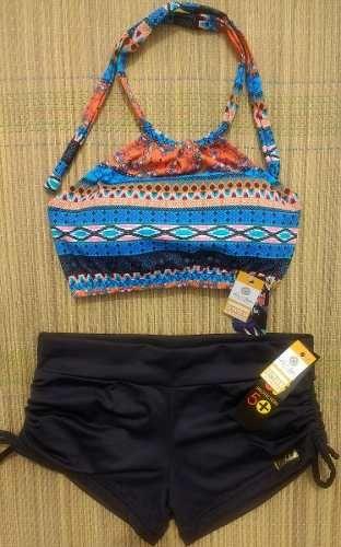 5000d150a Biquíni Top Cropped Estampado Cintura Alta/cós Alto Étnica - R$ 134,99 em Mercado  Livre