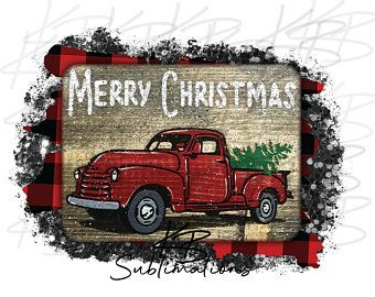 Ready to Press Holiday Cheer Retro Christmas Sublimation Transfer