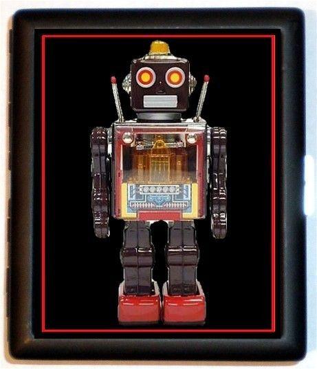 Small Treasure Bag Retro Robots
