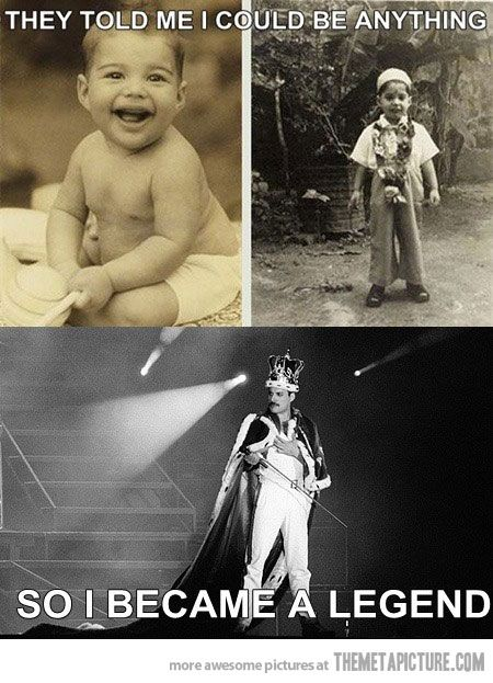 "Freddie Mercury - he had a vocal range twice as wide as the average untrained person. And he never had any vocal training.  By the way - the correct answer to ""The Beatles or The Stones?"" is ""QUEEN!!!!!"""