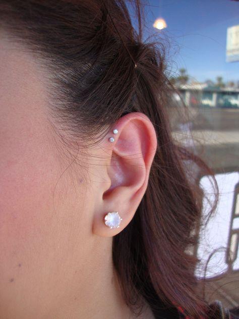 b345a261561b4 Leonie Boho Cartilage Helix Lobe Piercing Earring Set 4 Pieces in Gold