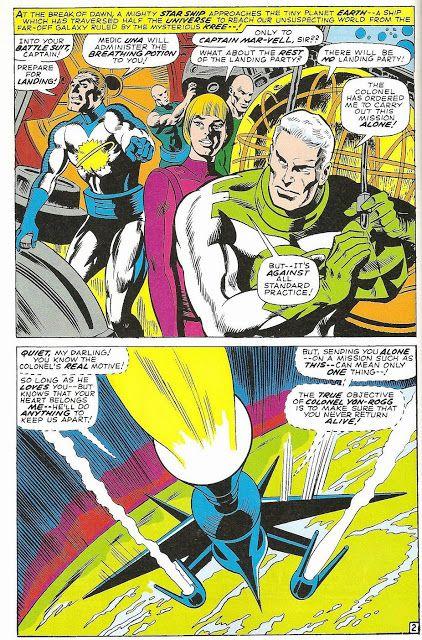 Yon Rogg Magnitron Una And Mar Vell Captain Marvel