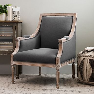 Mckenna Solid Dark Gray Accent Chair Quality Living Room Furniture Accent Chairs For Living Room Blue Accent Chairs