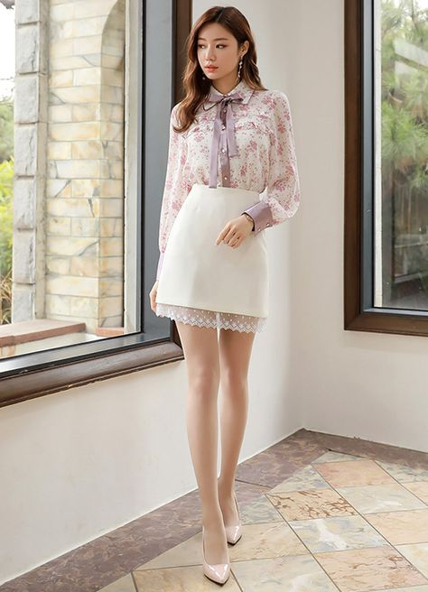 Lace Hem Mini Skirt