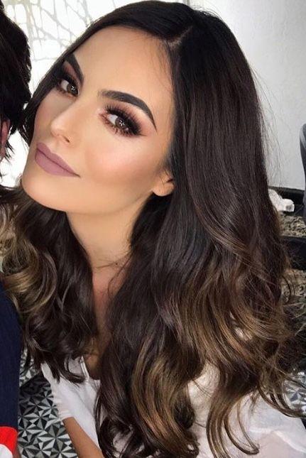 Makeup Morenas Noche Sencillo In 2020 Brunette Makeup Bridal Makeup For Brunettes Wedding Makeup For Brown Eyes