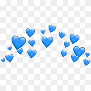 Heart Hearts Heartcrown Crown Filter Snapchat Blue Heart Emoji Crown Png Transparent Png Blue Heart Emoji Blue Heart Crown Png