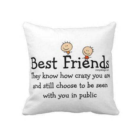 Best Friends Throw Pillows