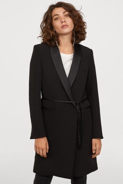 Tuxedo collared Coat | New style in 2019 | Tuxedo coat, Coat