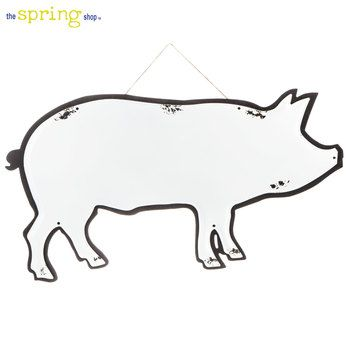 White Metal Pig Wall Decor Farmhouse Pig Affiliatelink White Metal Wall Decor Wall Decor Online