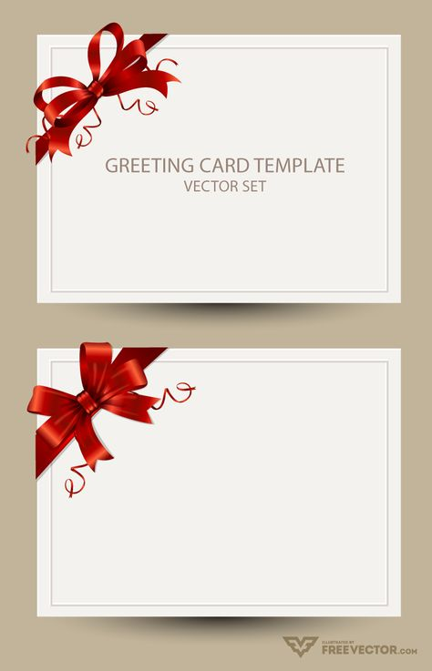 Freebie Greeting Card Templates With Red Bow Ai Eps Psd Regarding G Free Greeting Card Templates Birthday Card Template Free Free Printable Greeting Cards