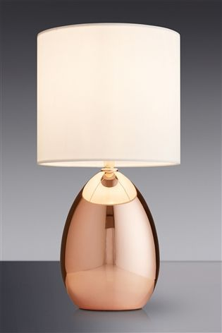 Buy Small Rose Gold Effect Touch Droplet Table Lamp From The Next