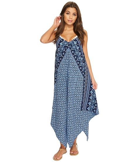 af415a33e8 Tommy Bahama Indigo Cowrie Scarf Dress Cover-Up Women s Swimwear Mare Navy