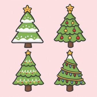 Arbol De Navidad Y Decoracion Ligera Conjunto De Vectores Dibujados A Mano Dibujo Dibujos Navidenos A Color Dibujo De Navidad Tarjetas De Navidad Para Imprimir