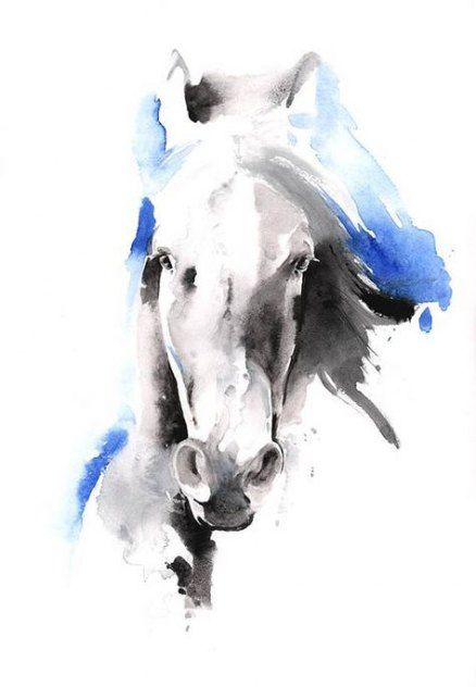 56 New Ideas For Drawing Animals Horses Watercolor Painting