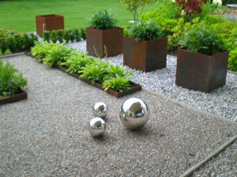 vorgartengestaltung mit kies - 15 vorgarten ideen … | pinteres…, Garten und bauen