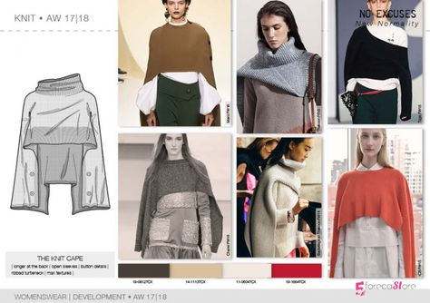 Discover the new fashion trends Product development designs by for No Excuses Macro theme, fall winter trend forecasting.