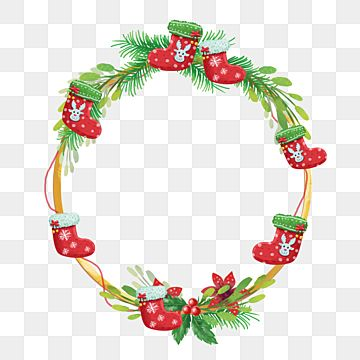 Christmas Wreath Leaves And Socks With Golden Line Christmas Merry Christmas Wreath Png Transparent Clipart Image And Psd File For Free Download Christmas Wreaths Christmas Gift Box Winter Snowflakes