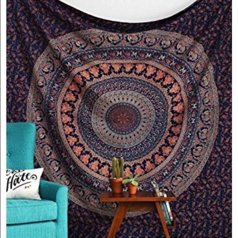 CHEAPEST large boho tapestry ! Brand: Rajrang, Product Code: WHG08217, Product Type: Tapestry Product Primary Work: Printed, Pattern: Floral Material: Cotton, Color: Navy Blue, Size: L-85 X W-55 Inches Package Contents: 1 Pcs, Care Instruction: Gentle Hand Wash Separately In Cold Water Special Remark: The images represent actual product though color of the image and product may slightly differ due to monitor resolution Other