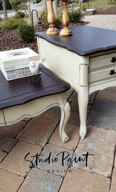 Classic French Provincial Coffee Table Set Brenner Painted