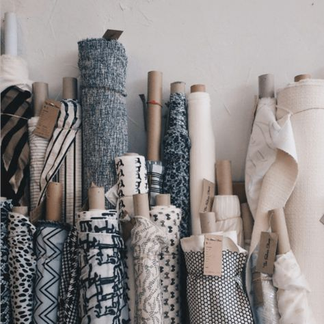 neutral and navy fabrics | @cottonflax
