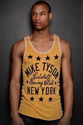 Mike Tyson Catskill New York Boxing Sleeveless Cotton Muscle T Shirt