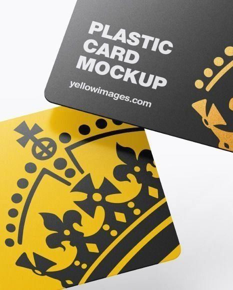 Download Plastic Cards Mockup In Stationery Mockups On Yellow Images Object Mockups 100 1000 Modern 1000 In 2020 Stationery Mockup Plastic Card Gift Card Design PSD Mockup Templates